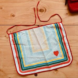 Vintage Brazilian Heart Cotton Apron